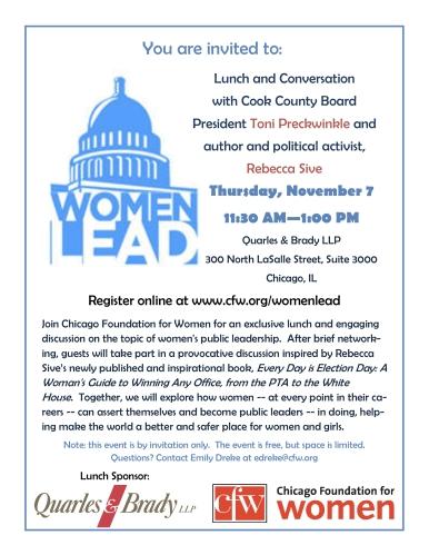Women LEAD November 7 Lunch Invite-1